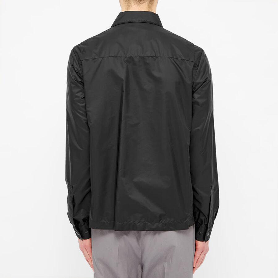 Moncler Nylon Logo Zip Pocket Overshirt 'Black'