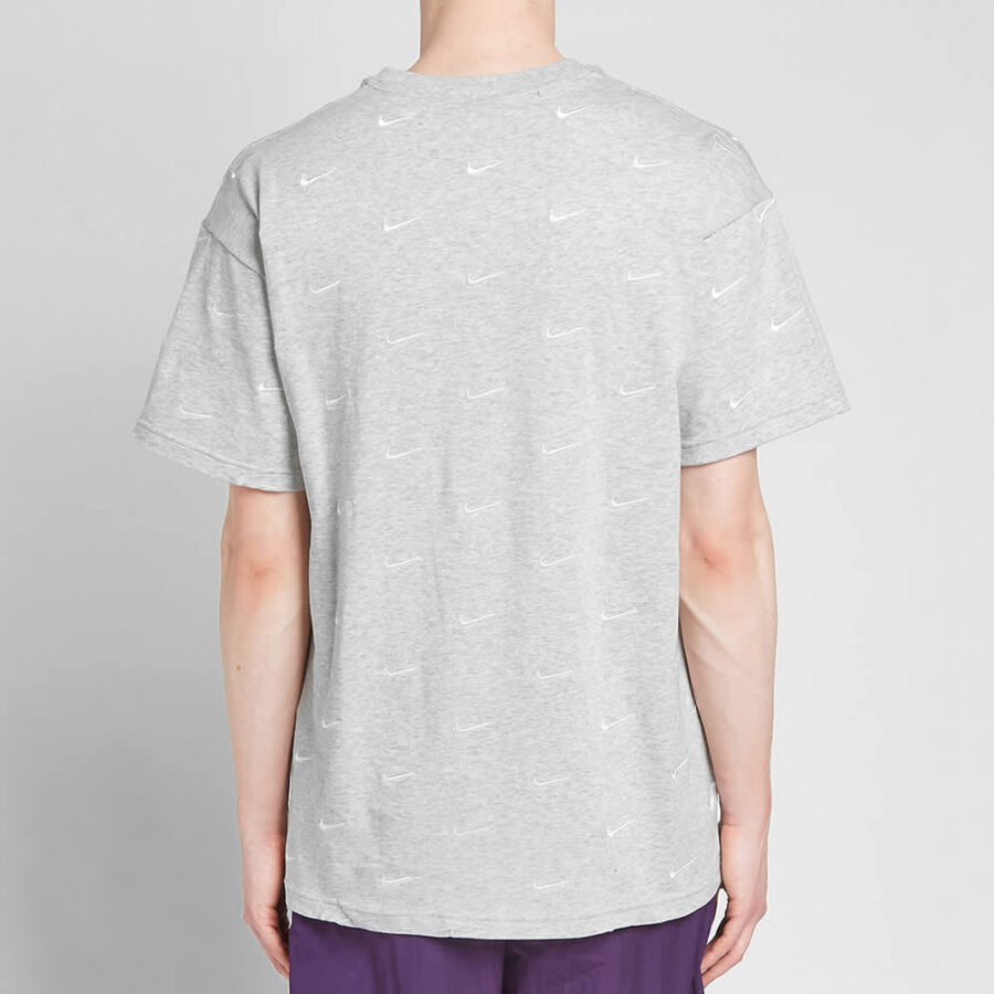 Nike NRG Embroidered Swoosh T-Shirt 'Grey'