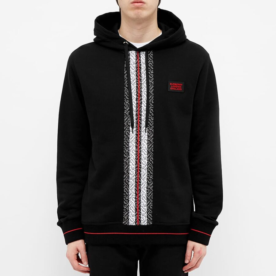 Burberry Larell Monogram Stripe Hoody 'Black'