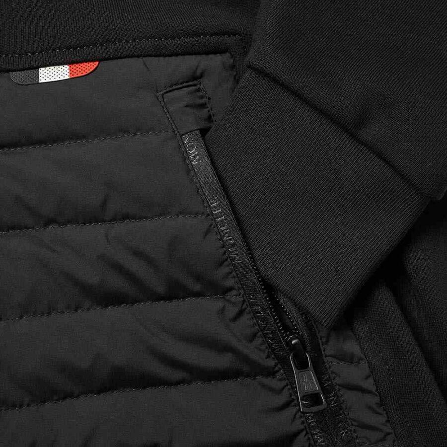 Moncler Kangaroo Pocket Zip Hoodie 'Black'