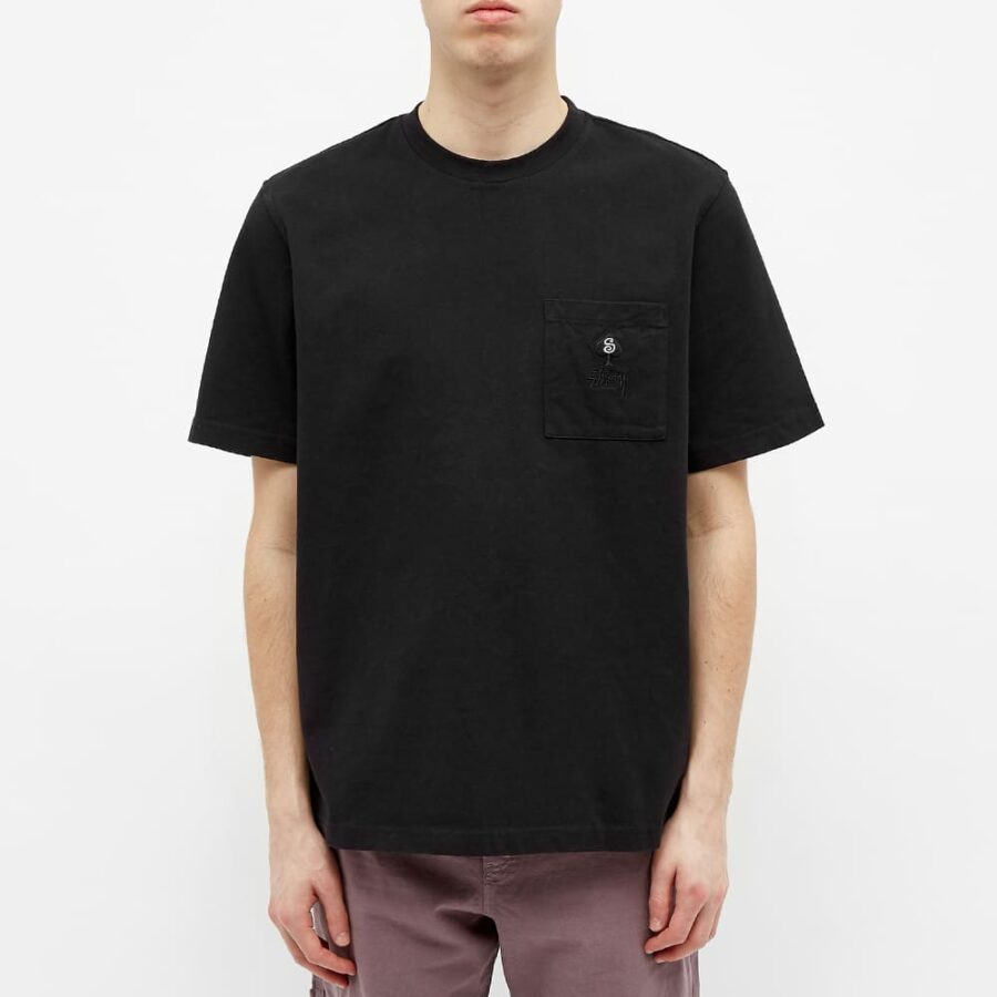 Stussy Spade Chest Pocket T-Shirt 'Black'