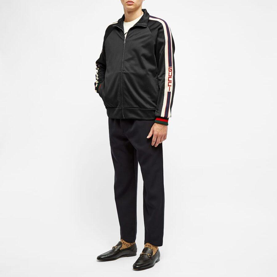 Gucci Taped Logo Track Jacket 'Black'
