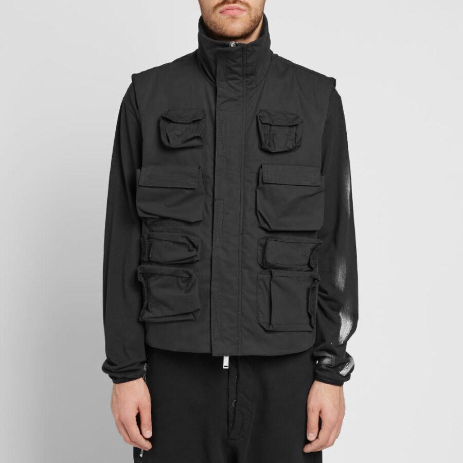 Unravel Project Multi Pocket Tech Vest 'Black'