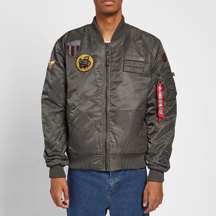 Alpha Industries MA-1 Air Force Jacket 'Grey & Black'