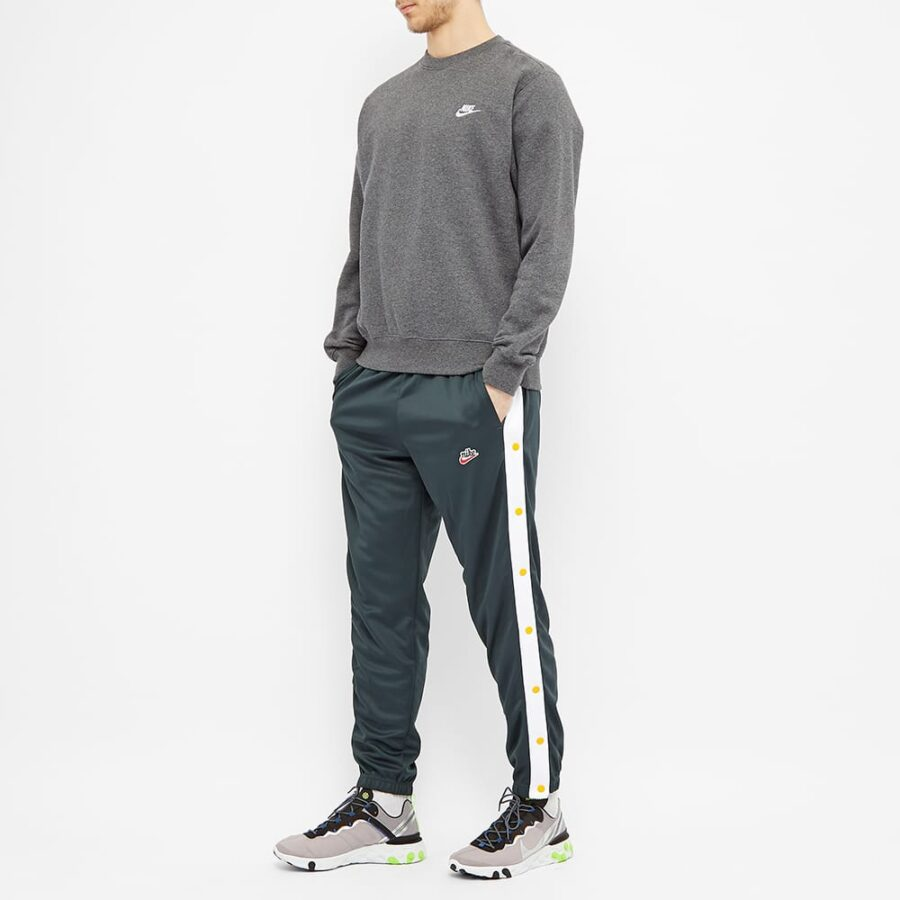 Nike Heritage Popper Trackpants 'Seaweed & White'