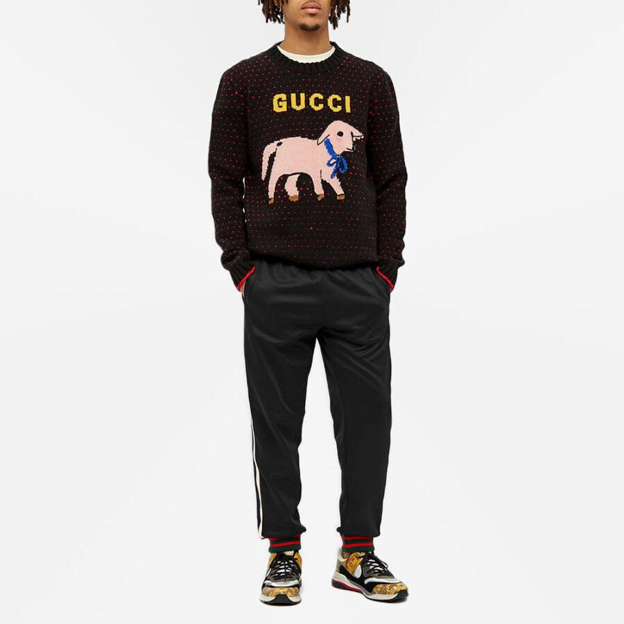 Gucci Taped Logo Trackpants 'Black'