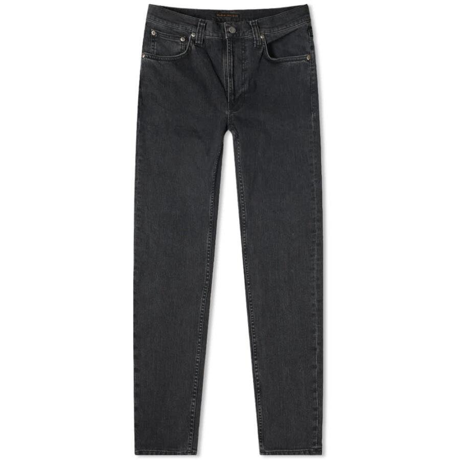Nudie Lean Dean Jeans 'Grey Stardust'