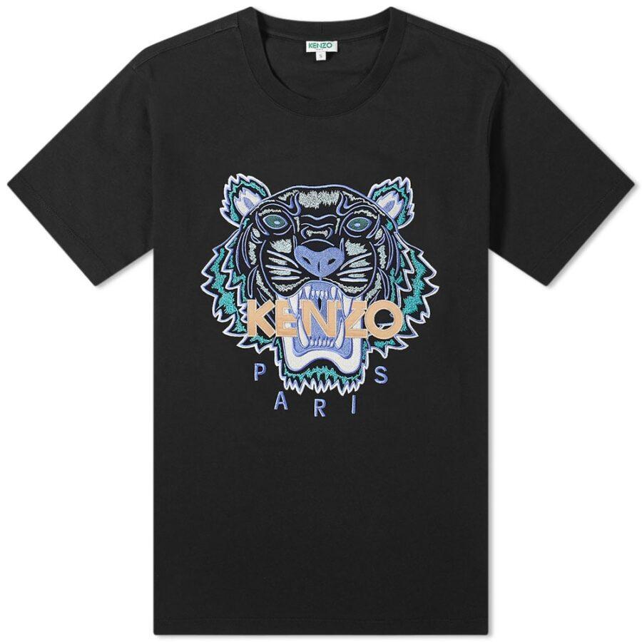 Kenzo Actua Tiger T-Shirt 'Black'