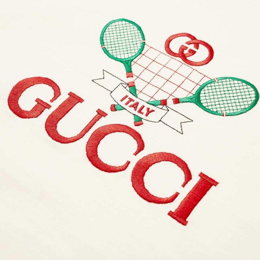 Gucci Tennis Club T-Shirt 'Off White'