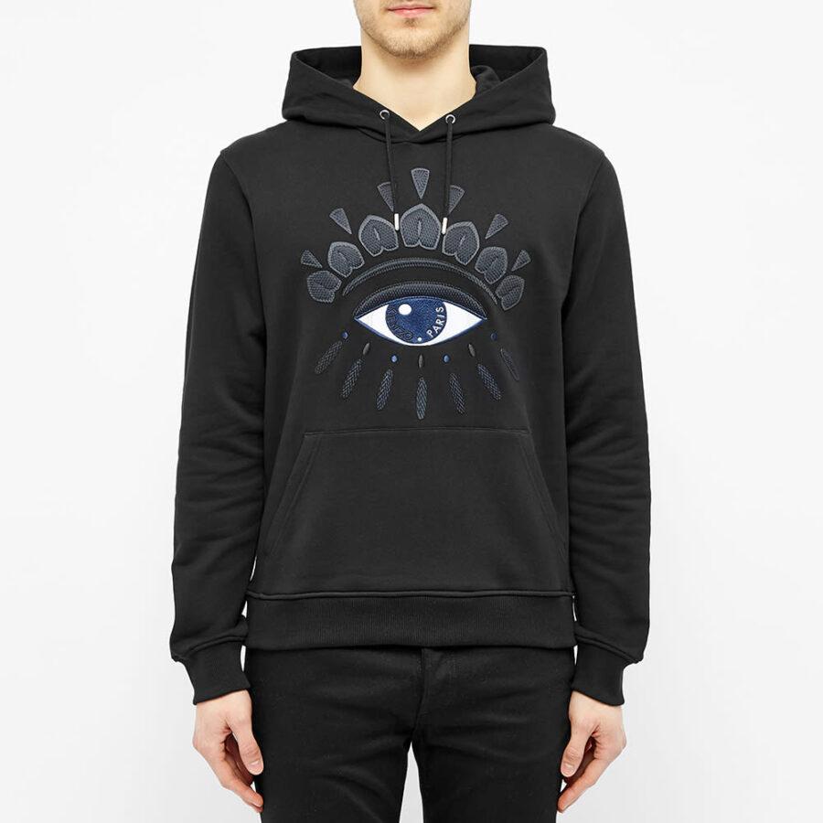 Kenzo Mesh Eye Hoody 'Black'