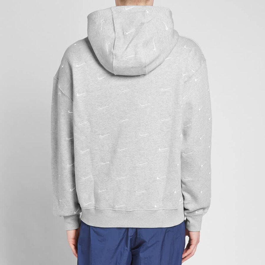 Nike NRG Embroidered Swoosh Hoody 'Grey'