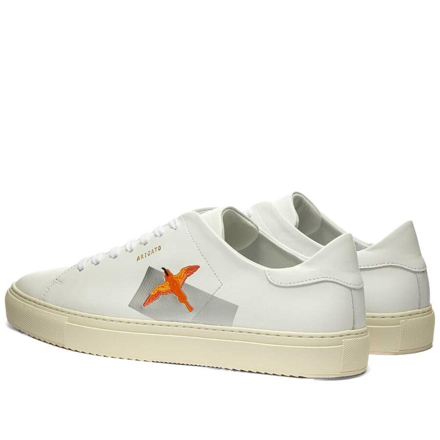 Axel Arigato Clean 90 Taped Bird Sneakers 'White & Orange'
