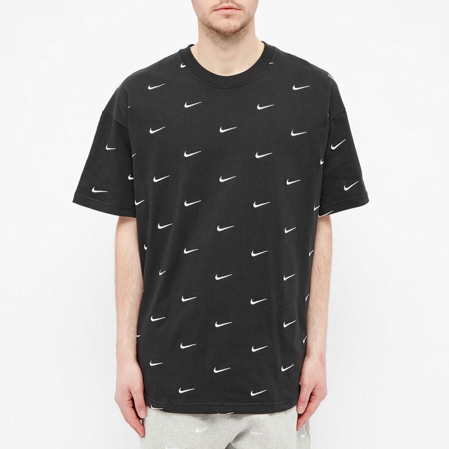 Nike NRG Embroidered Swoosh Logo T-Shirt 'Black'