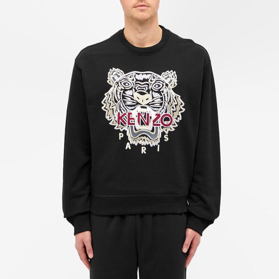 Kenzo Embroidered Tiger Varsity Sweatshirt 'Black'