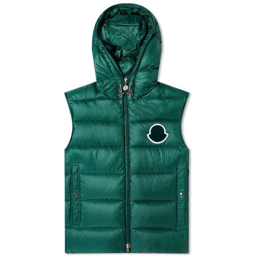 Moncler Vanoise Hooded Gilet 'Green'