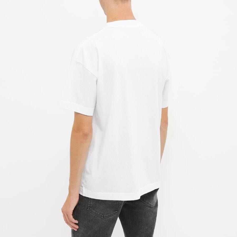 Palm Angels Sprayed Miami Logo T-Shirt 'White'