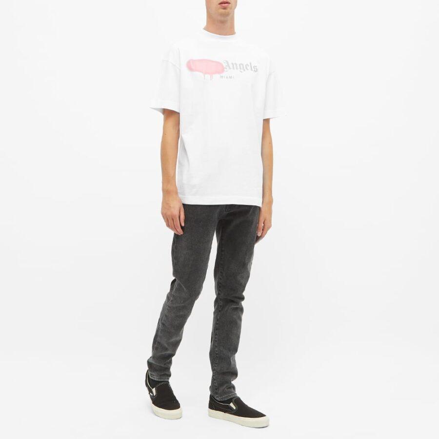 Palm Angels Sprayed LA Logo T-Shirt 'White'