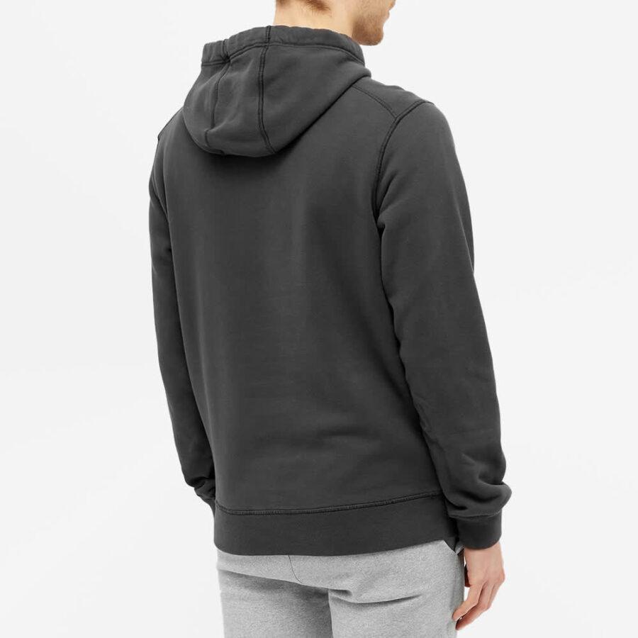 Stone Island Garment Dyed Hoody 'Dark Grey'
