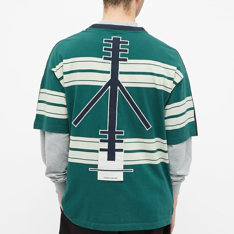 Champion x Craig Green Cut & Sew '80s T-Shirt 'Black & Green'