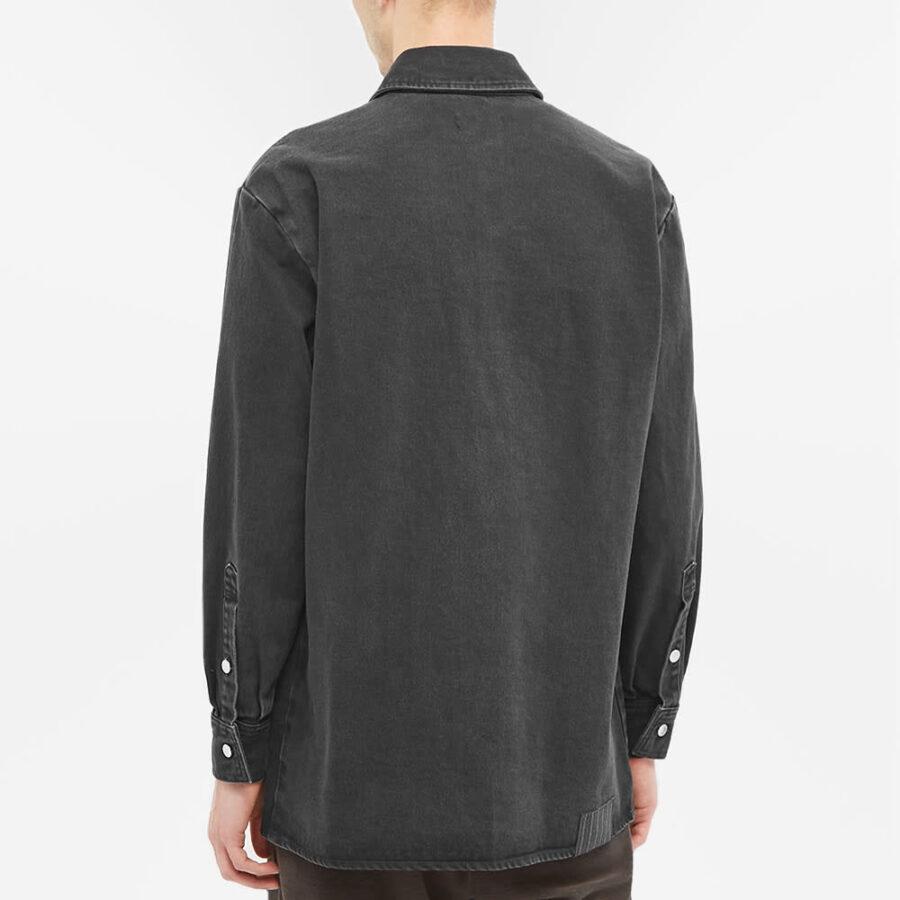 Raf Simons Washed Denim Overshirt 'Black'