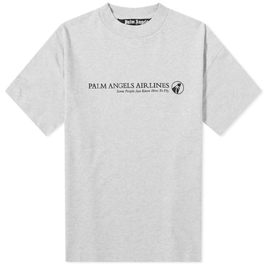 Palm Angels Airlines T-Shirt 'Grey'