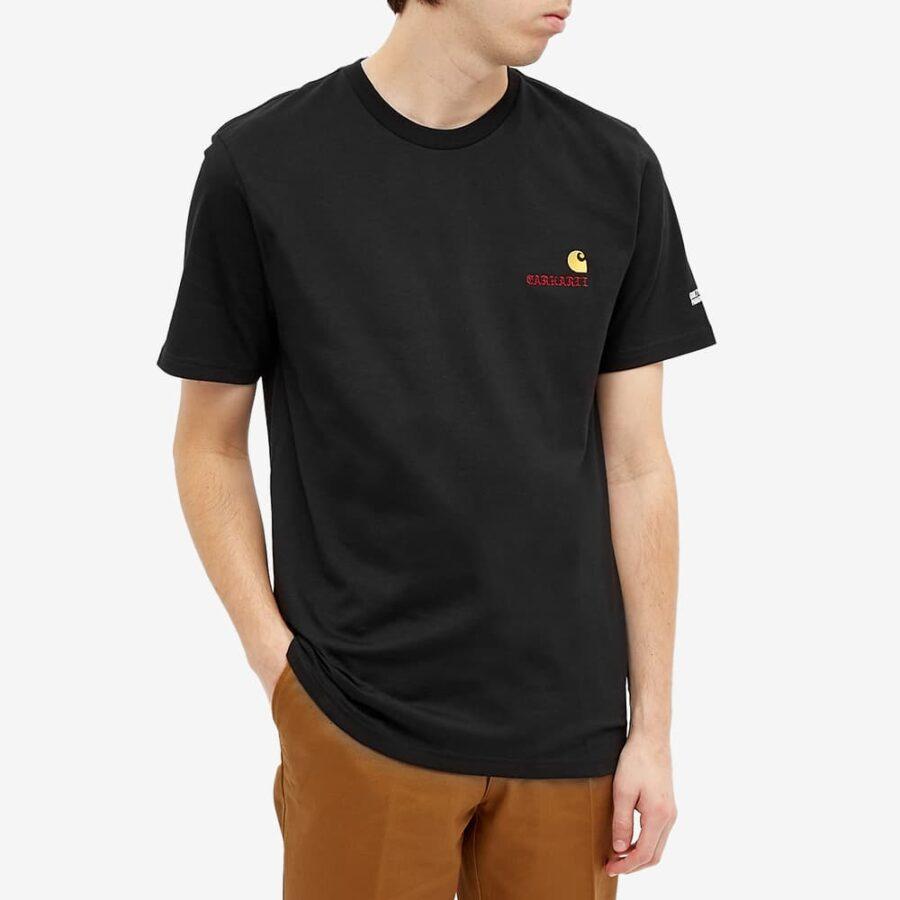 Carhartt WIP x Wacko Maria Logo American Script T-Shirt 'Black'