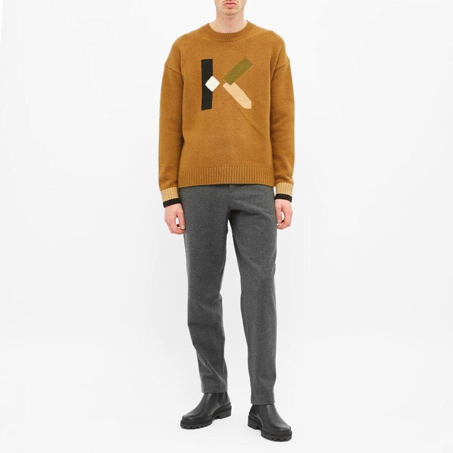 Kenzo Wool Joggers 'Grey'
