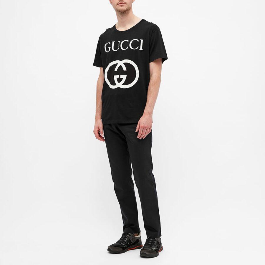 Gucci Interlocking Logo T-Shirt 'Black'