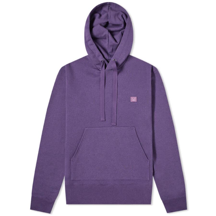 Acne Studios Ferris Face Hoody 'Purple'