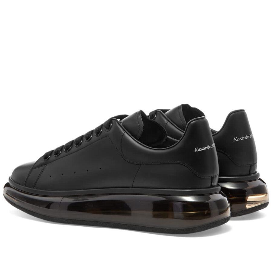 Alexander McQueen Air Bubble Wedge Sole Sneakers 'Black & Black'