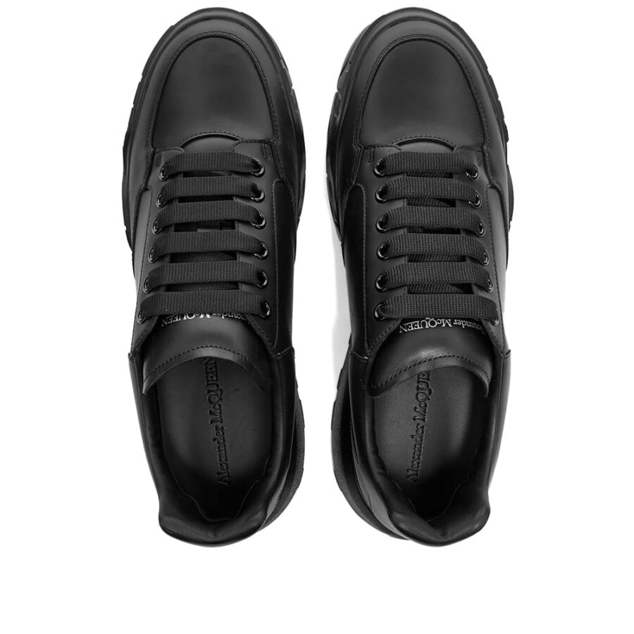 Alexander McQueen Court Wedge Sole Sneakers 'Black'
