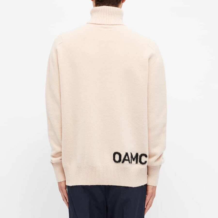 OAMC Whistler Roll Neck Knit Jumper 'Pink'