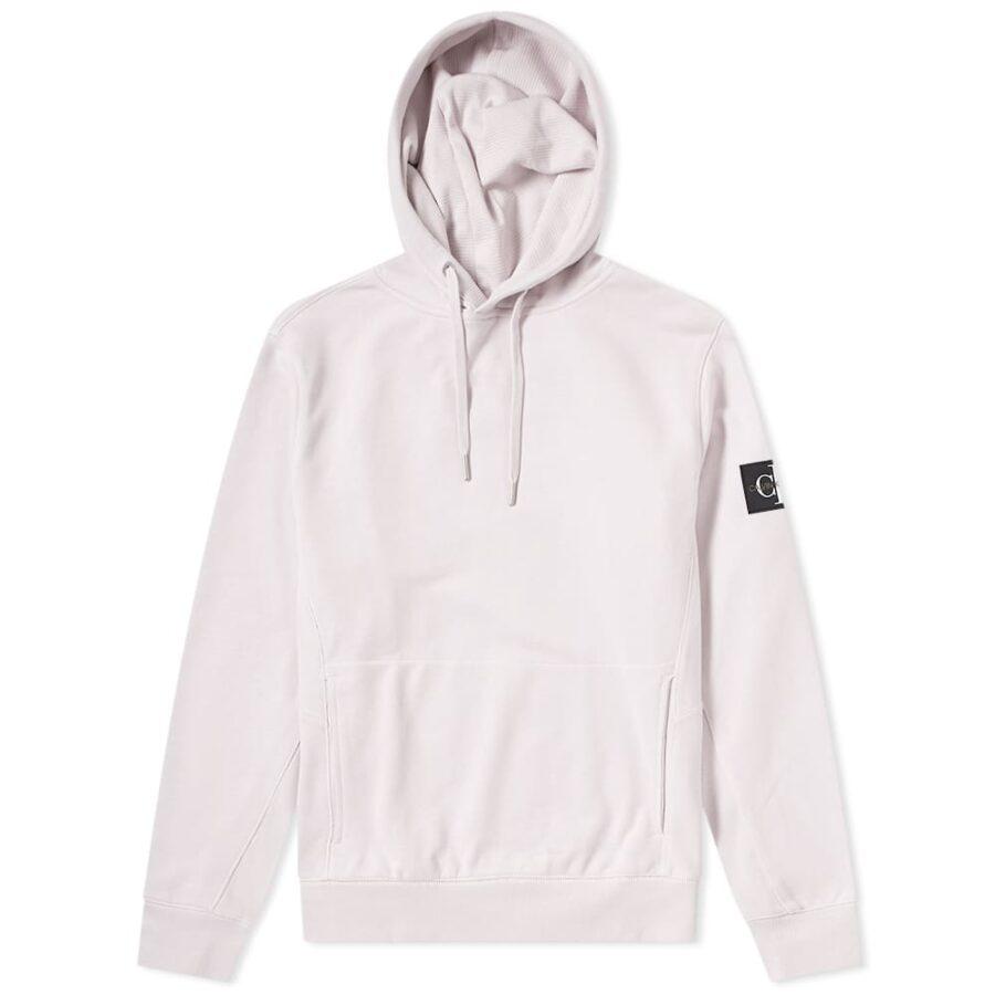 Calvin Klein Monogram Sleeve Badge Hoody 'Pink'