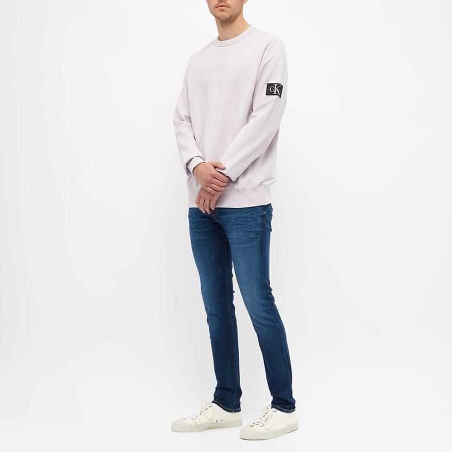 Calvin Klein Monogram Sleeve Badge Sweatshirt 'Pink'