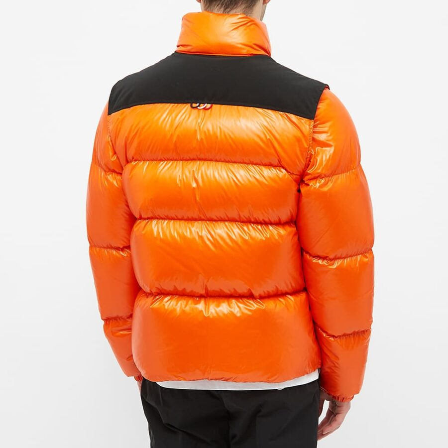 Moncler Leschaux Removable Sleeve Down Jacket 'Orange'