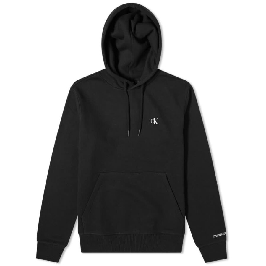 Calvin Klein Essential Logo Hoody 'Black'