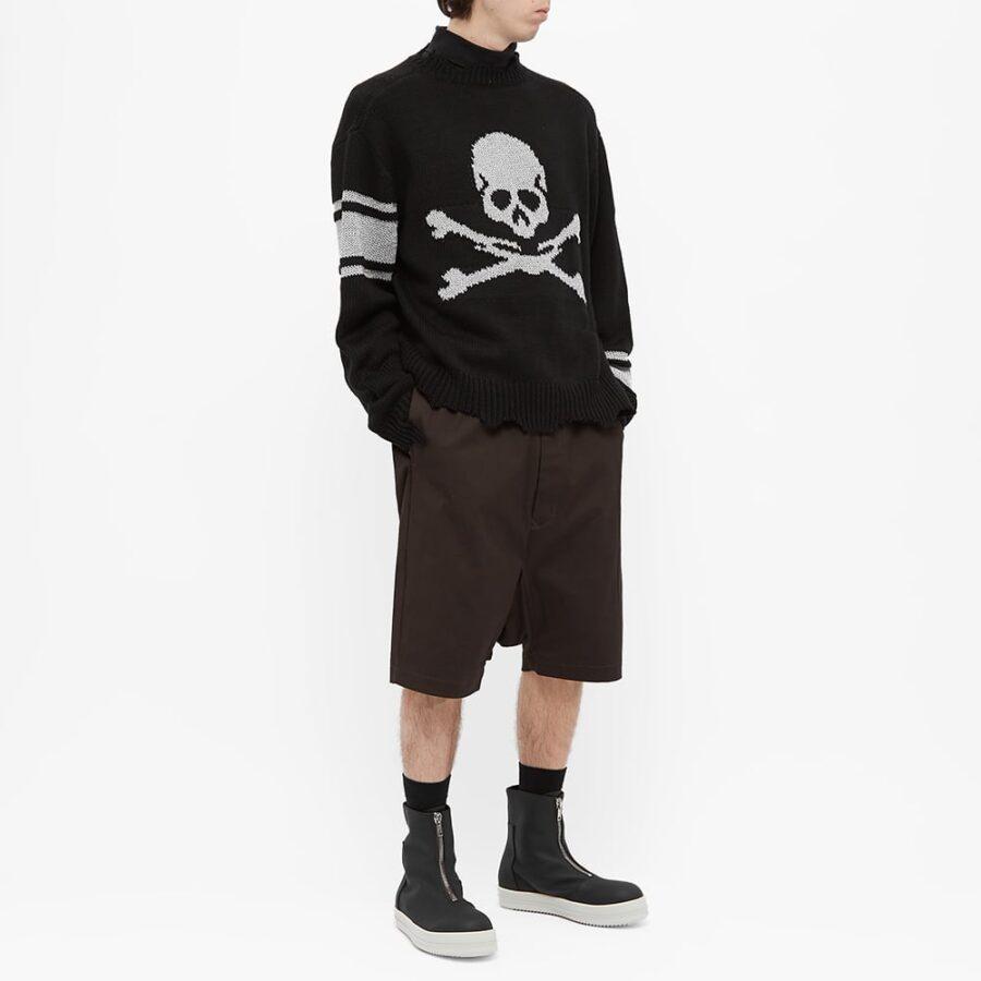 C2H4 x Mastermind Japan Reflective Knit Sweater 'Black'