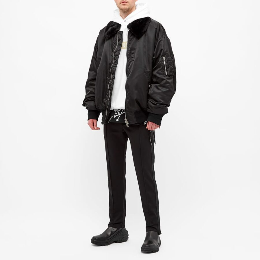 Mastermind World Aviator Faux Fur Jacket 'Black'