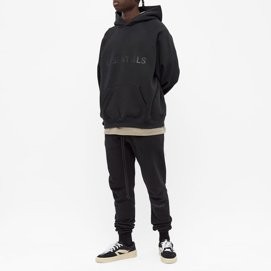 Fear of God ESSENTIALS Front Logo Hoody 'Black'