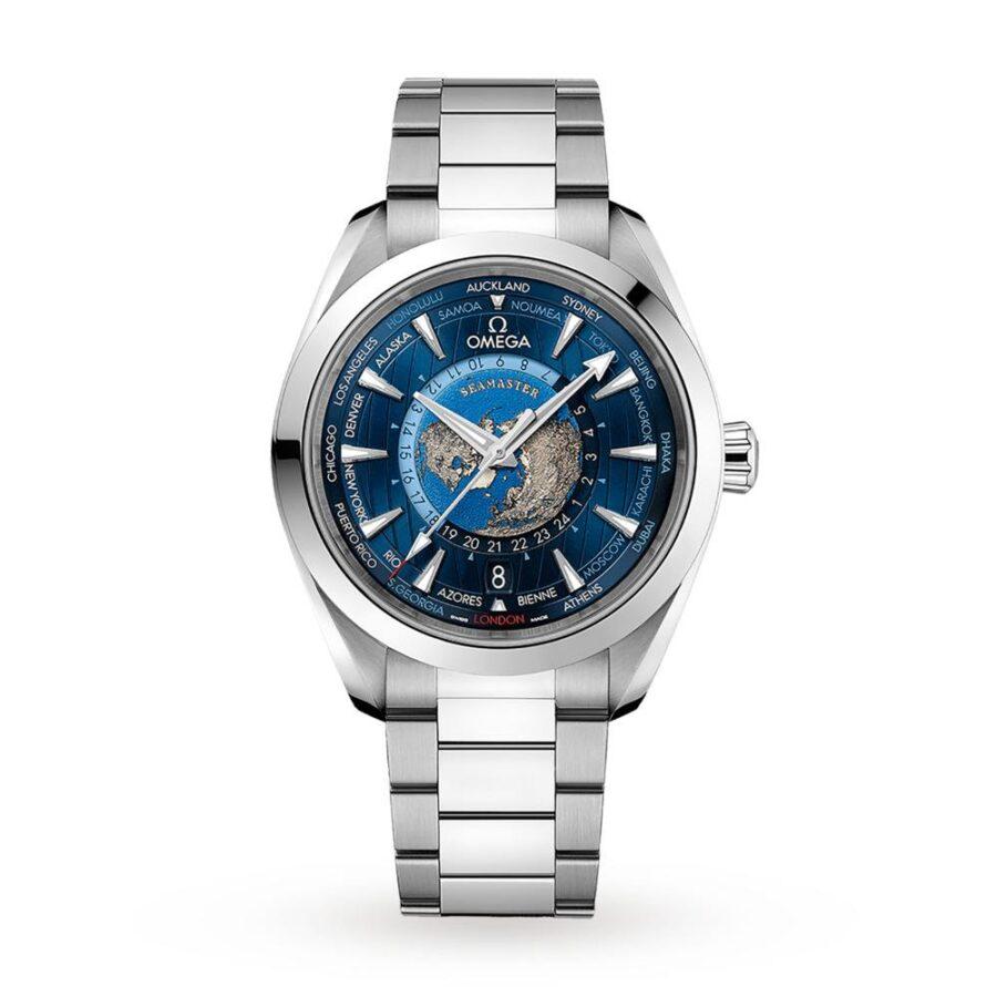 Omega Seamaster Aqua Terra Worldtimer 43mm Watch 'Blue'