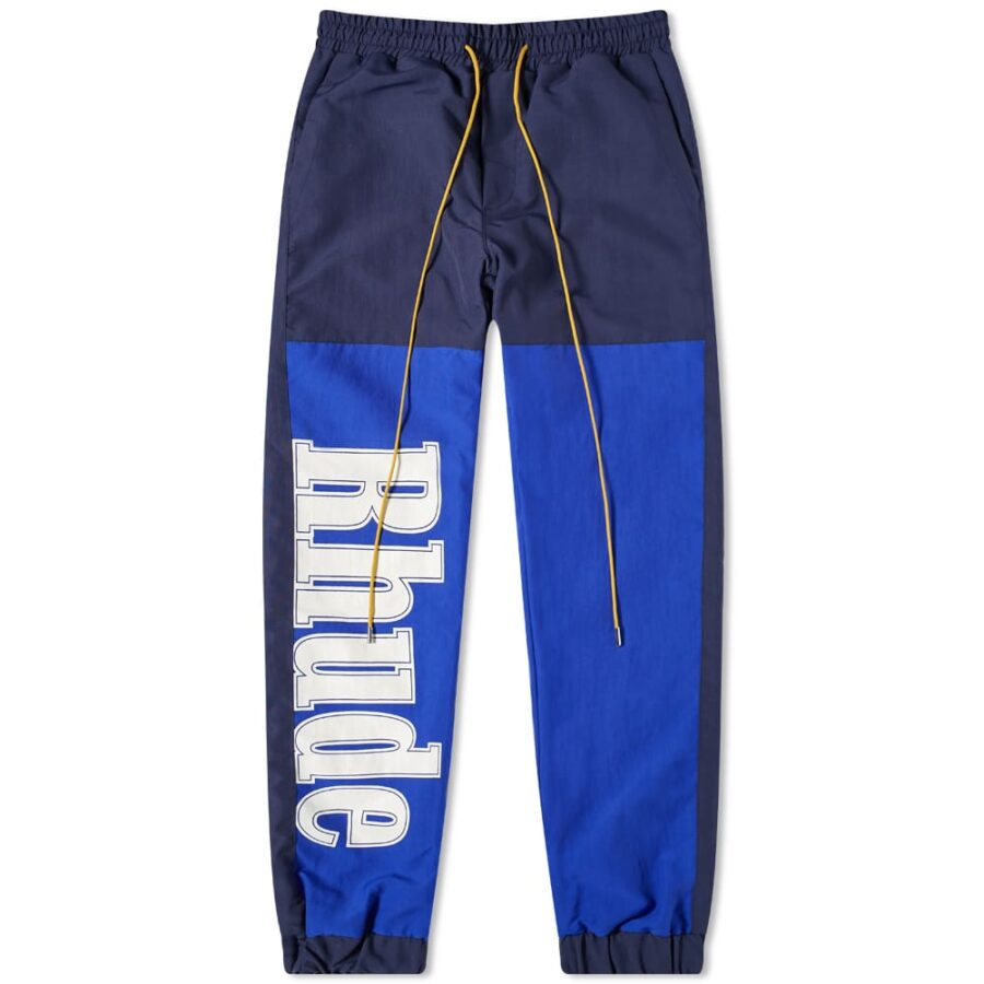 Rhude Logo Trackpants 'Blue & Navy'