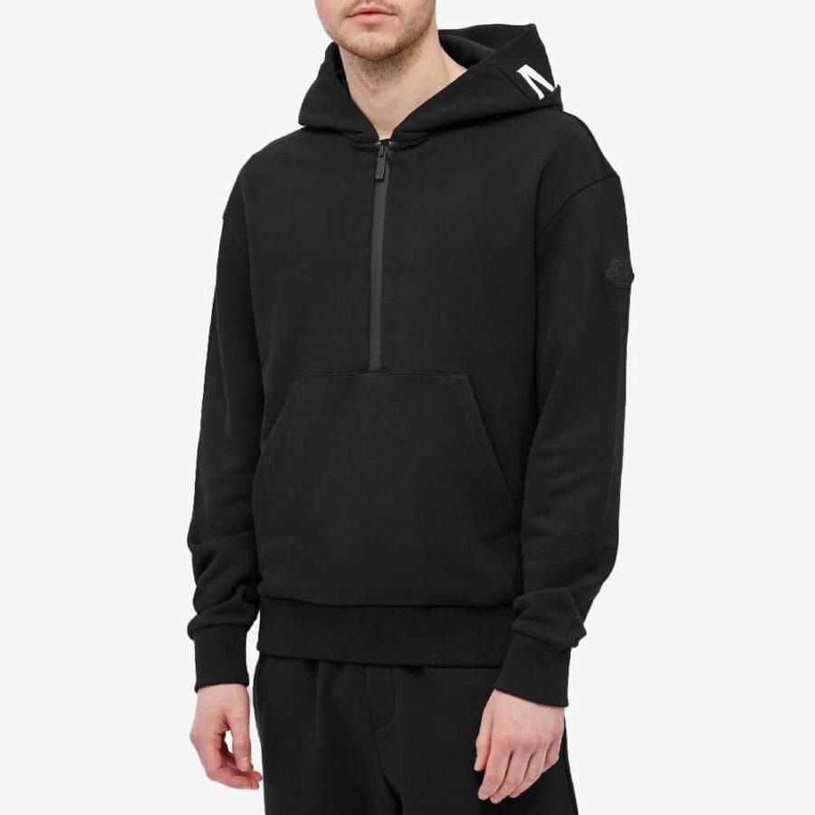 Moncler Half-Zip Hoody 'Black'