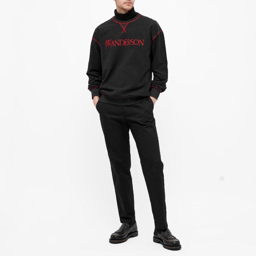 JW Anderson Inside-Out Contrast Sweatshirt 'Black'