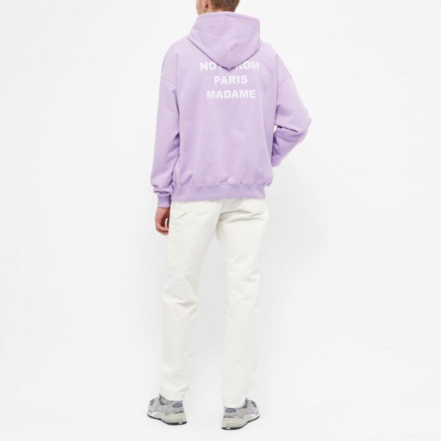 Drôle de Monsieur Back Print Slogan Hoody 'Purple'