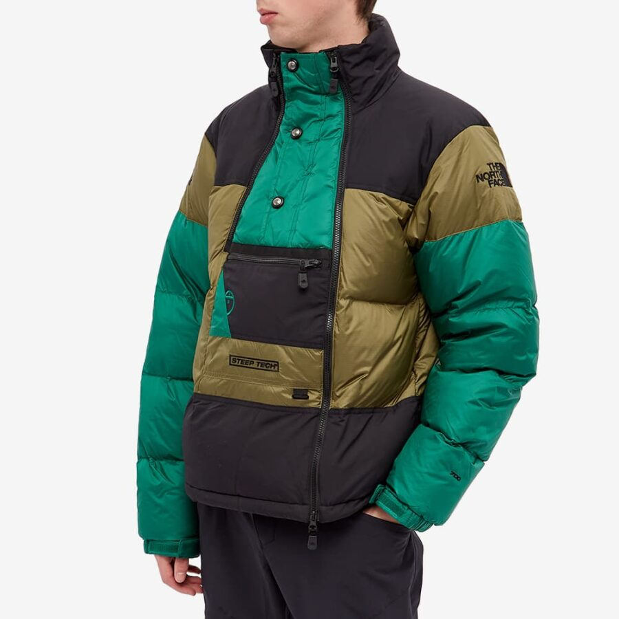 The North Face Steep Tech Down Jacket 'Green & Black'