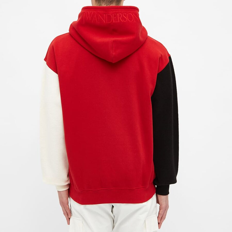 JW Anderson Inside-Out Sleeve Hoody 'Red'