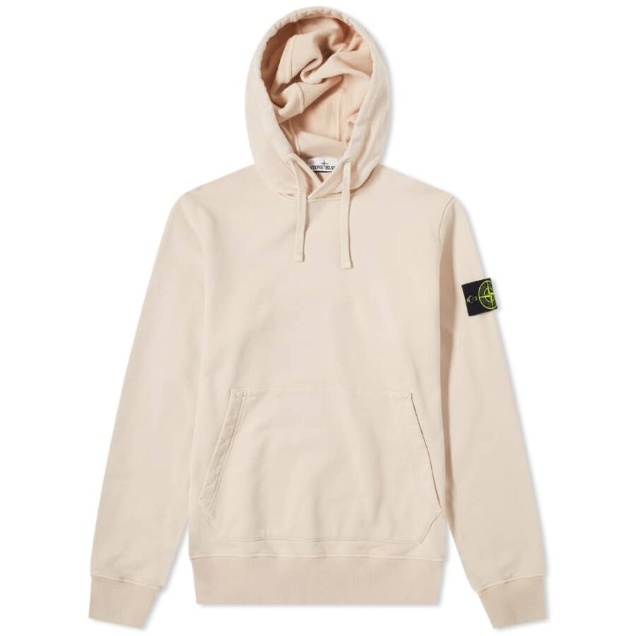 Stone Island Garment Dyed Hoody 'Antique Rose' 741564151-V0082