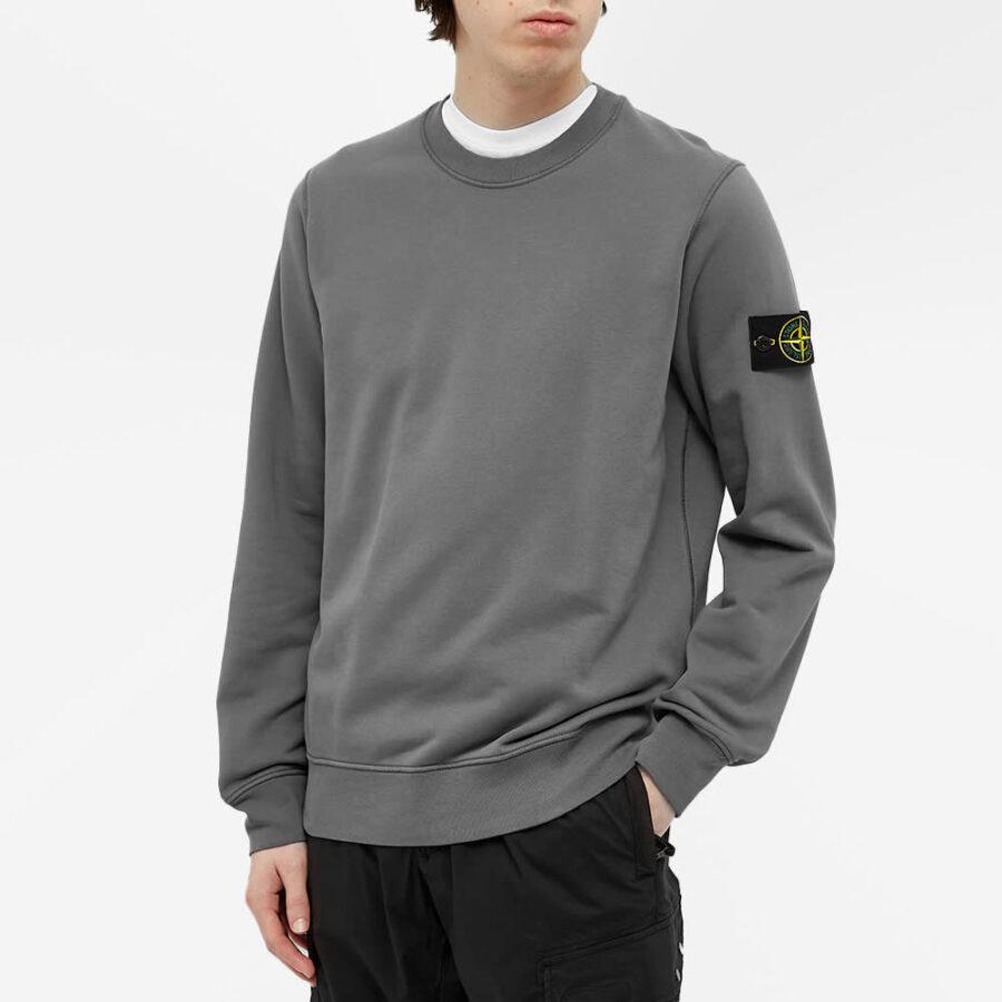 Stone Island Garment Dyed Sweatshirt 'Pewter Grey'