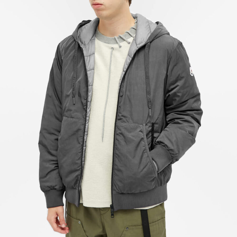Moncler Mondrone Garment Dyed Jacket 'Dark Grey'