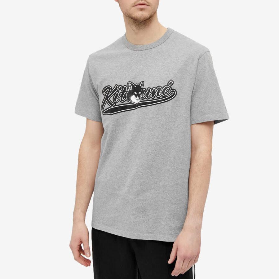 Maison Kitsuné Varsity Fox T-Shirt 'Grey'
